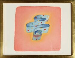 Jean-michel Folon, 1988 Flag Series - United Nations, Lithograph On Arches, Sign