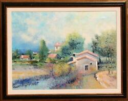 Rouget, Secluded Village, Oil On Canvas, Signed