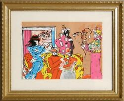Peter Max If Series Flower Garden Screenprint Signed And Dated In Pencil L.r