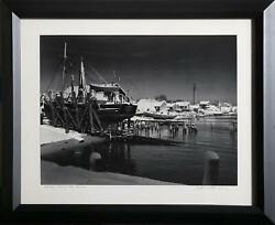 John W. Gregory Winter Along The Shore Gelatin Silver Print Signed In Ink