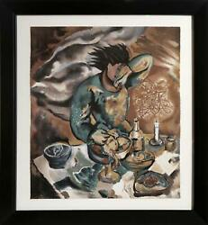 Sandro Chia, Dinner Table, Lithograph, Signed And Numbered In Pencil