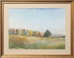 Mary Kelsey, Landscape, Watercolor On Paper
