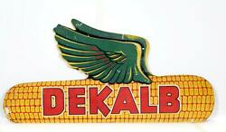 Unknown Artist Dekalb Illinois Corn Painted Carved Wood Sign