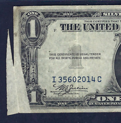 1935a 1 North Africa Error ♚♚butterfly Fold Error♚♚ Pmg Vf 30 Rare Note