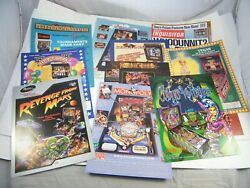 Pinball Advertising Promotional Flyers Circus Voltaire, Hot Shots, Whodunnit 12