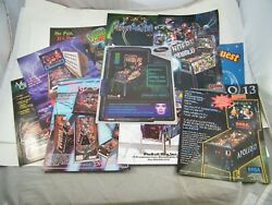 Pinball Advertising Promotional Flyers Circus Voltaire, Dracula, Buck Rogers 11
