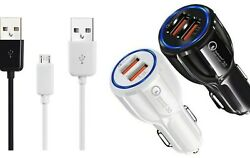 Lot Of 10 To100 Micro Usb Type C Aux Cable Single Double Car Wall Plug 3 6 10 Ft