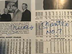 1965 New York Yankees Yearbook Signed By Mickey Mantle Inscribed No. 7 Jsa