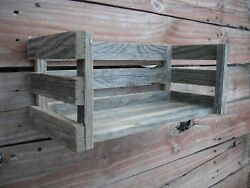 Country Cottage Wood Shelf Crate Farmhouse Distressed Rustic Weathered 16 Long