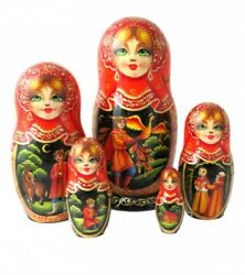 Russian Nesting Dolls Stacking Matryoshka Painted At Hand - The Tale Popular