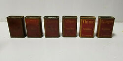 Vintage Spice Tin Schilling And Co Lot Paperboard
