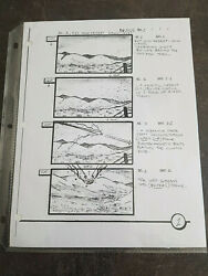 Extremely Rare The X Files Season 10 Original Production Used Storyboard