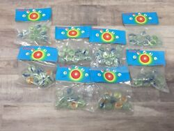 Vintage 1950's Marbles Bulk Lot New Old Stock 72 Bags Cateye Made In Taiwan