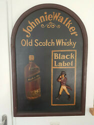 Extremely Rare Johnnie Walker Wooden 3d Big Old Antique Advertising Sign Board