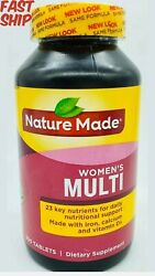Nature Made Womenand039s Multi For Her With D3 Iron Calcium 300 Tablets Exp 9/2021