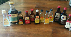 Neat Vtg Htf Lot 12 Extracts And Flavorings Sauer's Mccormick Schilling Bottles