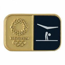 Tokyo 2020 Olympic Sports Pictogram Artistic Gymnastics Pin Badge Official Goods