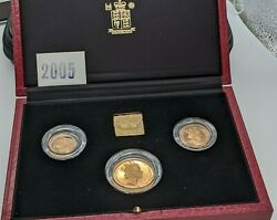 United Kingdom Gold Proof Sovereign Three-coin Set 1991
