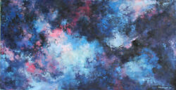 Seena Donneson Untitled 3 (Galaxy) Oil Painting