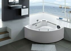 Whirlpool White Bathtub Hydrotherapy 53 Hot Tub Daisy With 6 Water Jets