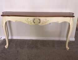 Ethan Allen Legacy Country French Sofa Entry Table Model 13-9621e