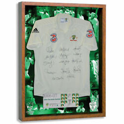 Official Acb Ashes 06/07 Australian Cricket Team Authentic Signed Shirt Framed