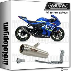 Arrow Racing Nocat Full Exhaust Dbk Pro-race Titanium Suzuki Gsx-r 1000 17/18