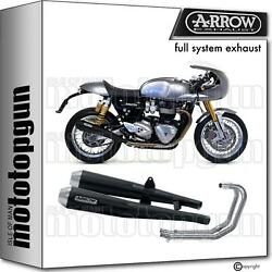 Arrow Hom Nocat Full Exhaust Pro-racing Black Triumph Thruxton 1200 R 16/20