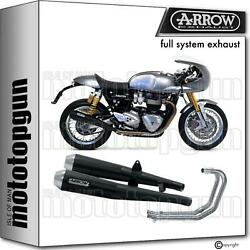 Arrow Hom Nocat Full Exhaust Pro-racing Black Triumph Thruxton 1200 16/20