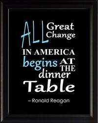 Ronald Reagan All Great Change Poster Print Picture Or Framed Wall Art