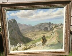 Norman Hepple Ra Large Oil Royal Academy Exhibit Reduced + Letters From Artistandnbsp