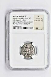 Greek Emp. Cariacaunos Ar Stater Late 5th-early 4th Cent. Bc Ngc F Witter Coin