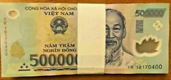 Vietnamese Dong 10 Million 20 X 500000 Note Vietnam Banknotes Currency Vnd