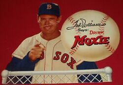 Ted Williams Moxie Soda 50and039s Counter Cardboard Ad Display Red Sox Original Rare
