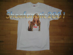 Supreme Kate Moss Photo Tee Collaboration Shirt Box Logo Large White Vintage