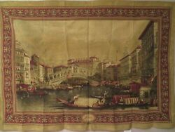 Belgian Tapestry Venice Woven 76 X 53 Wall Hanging Decor New Victorian Vintage