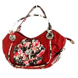 Women#x27;s Crystal Centered Flower Accent Hobo Double Handle Bag $15.96