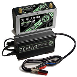 Braille Auto Battery Lithium Ion Super 16 Volt Battery W/charger P/n - B168lc