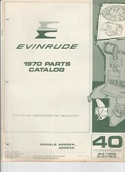 1970 Evinrude Outboards Parts Catalog 40 Hp Big Twin Electric P 27927a