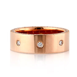 Mark Broumand Menand039s 1.30ct Diamond Eternity Wedding Band In 14k Rose Gold 7.0mm