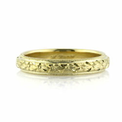 Mark Broumand Women's Hand Engraved Wedding Band In 18k Yellow Gold