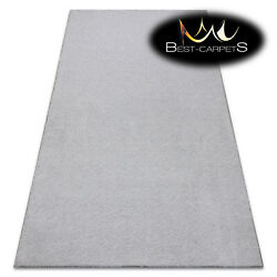 Best Carpets Hardwearing Velvet Micro Grey Thick Plain One Colour Rugs Any Size