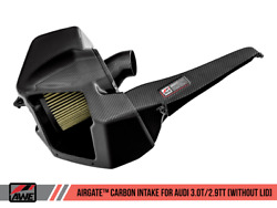 Awe Airgate™ Carbon Fiber Intake Without Lid For 18+ Audi Rs4 / S4 Quattro