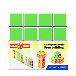 New - Geomag Magicube Free Building 64 Pcs - Ages 1+   1+ Players
