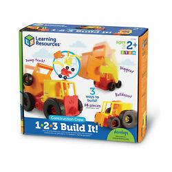 New - Learning Resources 1-2-3 Build It Construction Crew - Ages 2+   1 Player