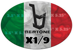 116 European Style -italy Flag- Sticker Compatible With Fiat X1/9 - Bertone