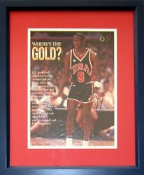Michael Jordan Autographed Signed 1984 Us Olympic Team Photo Framed Full Name