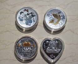 China 2015 One Set Of 4 Pcs Of 1oz Silver Coins - Chinese Auspicious Culture