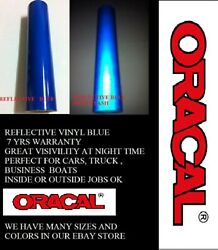 12 X 5 Ft Blue Reflective Vinyl Adhesive Sign Made In Usa Oracal Oralite