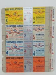 1960 World Series Game 3 4 5 X Yankees Pirates Full Proof Ticket Sheet Complete